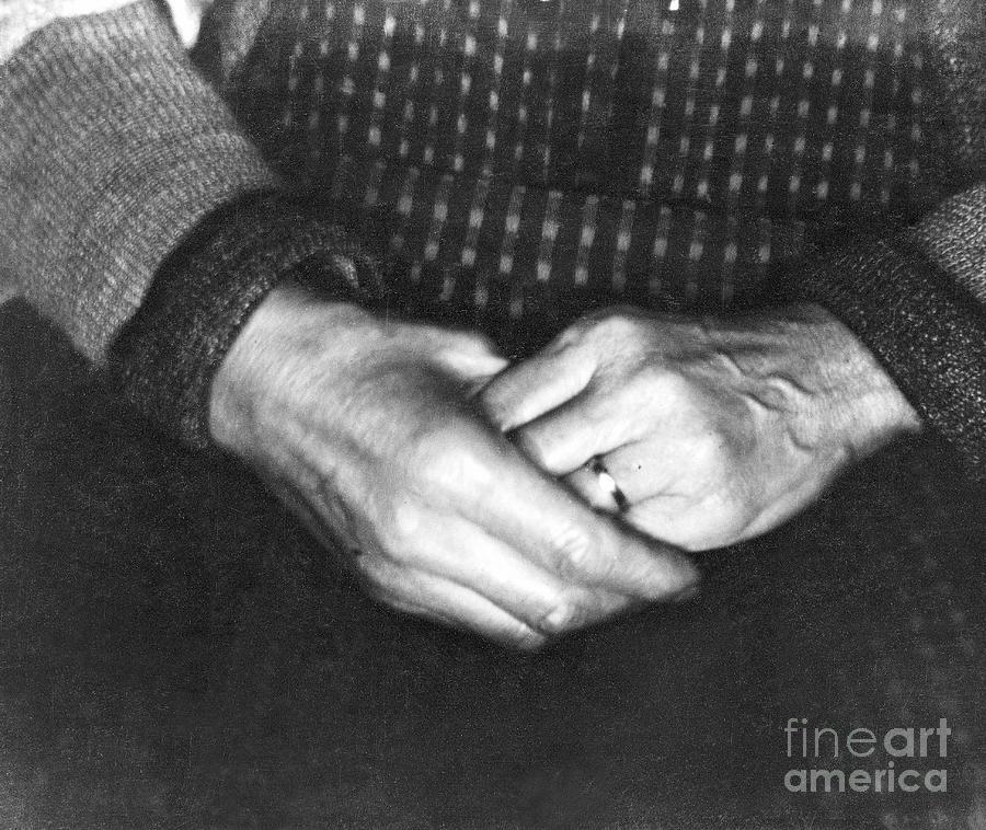 The Hands of Assunta Modotti, San Francisco, 1923  by Tina Modotti