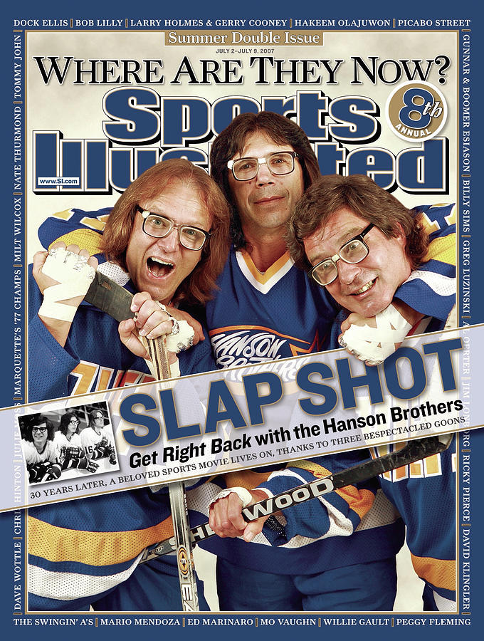 The Hanson Brothers Sports Illustrated Cover Photograph by Sports Illustrated