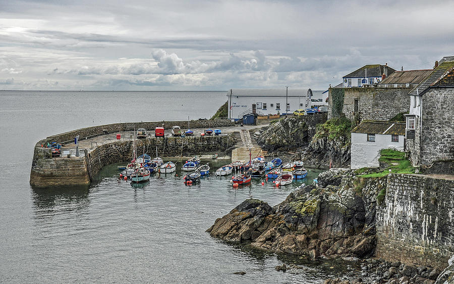 The Harbour At Coverack by Andrew Wilson