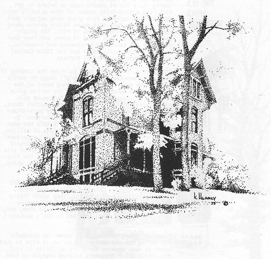 Hauser Drawing - The Hauser Mansion, Helena, Montana by Kevin Heaney