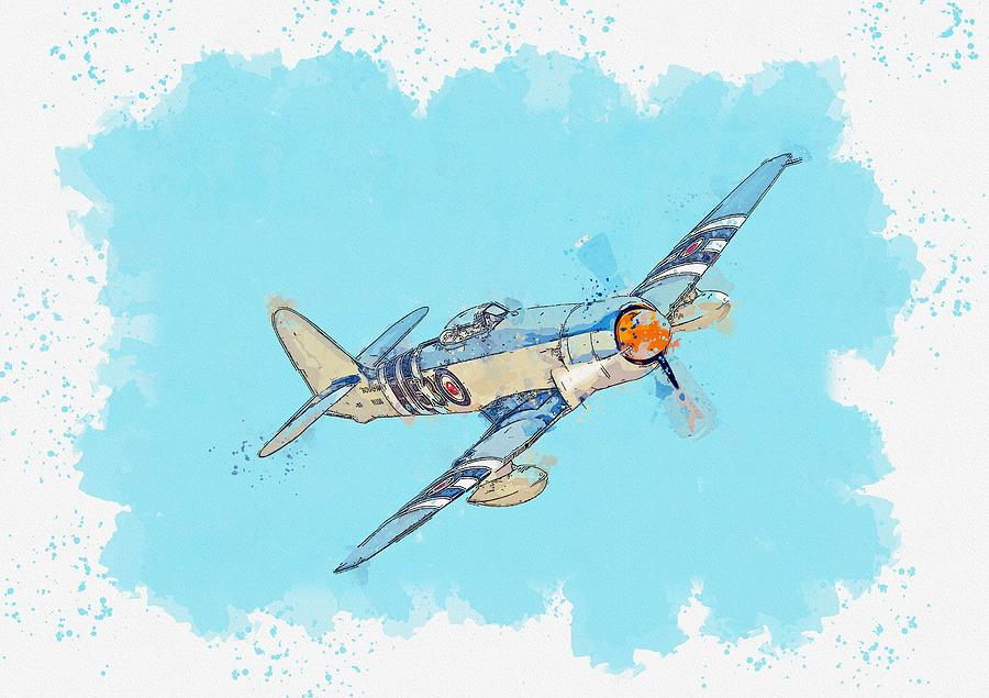 The Hawker Sea Fury is a British fighter aircraft designed and manufactured by Hawker Aircraft water by Ahmet Asar