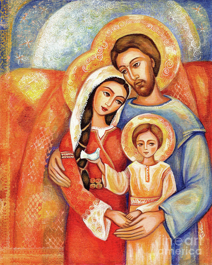 Holy Family Painting - The Holy Family by Eva Campbell