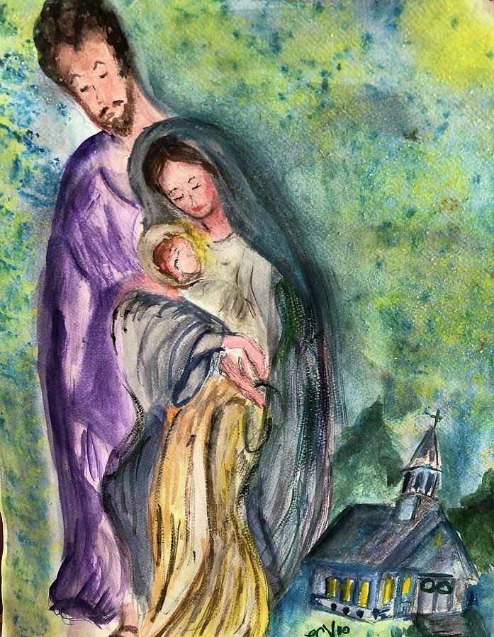 The Holy Family  by Lucille Valentino