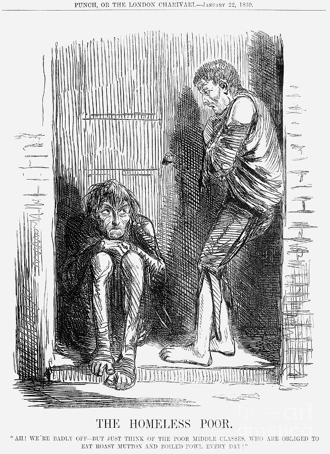 The Homeless Poor, 1859 Drawing by Print Collector
