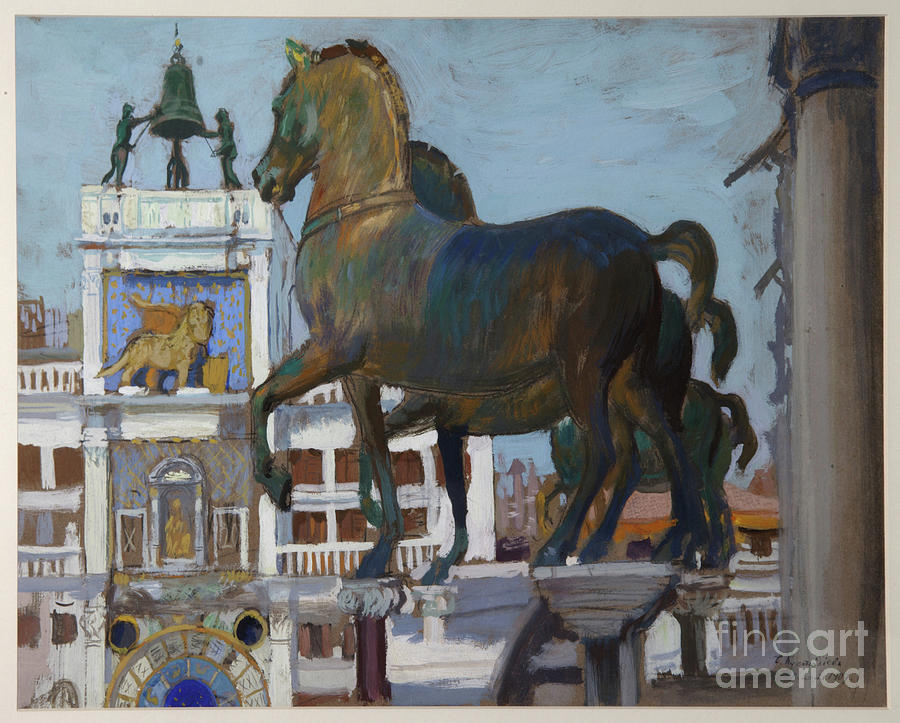 The Horses Of San Marco, 1907. Artist Drawing by Heritage Images