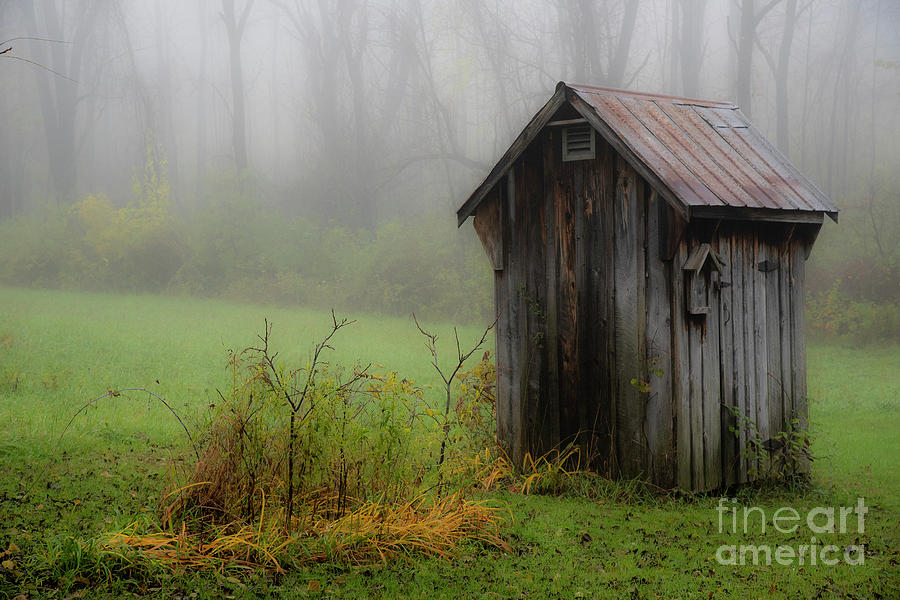 Countryside Photograph - The house Foggy Morning by Joann Long