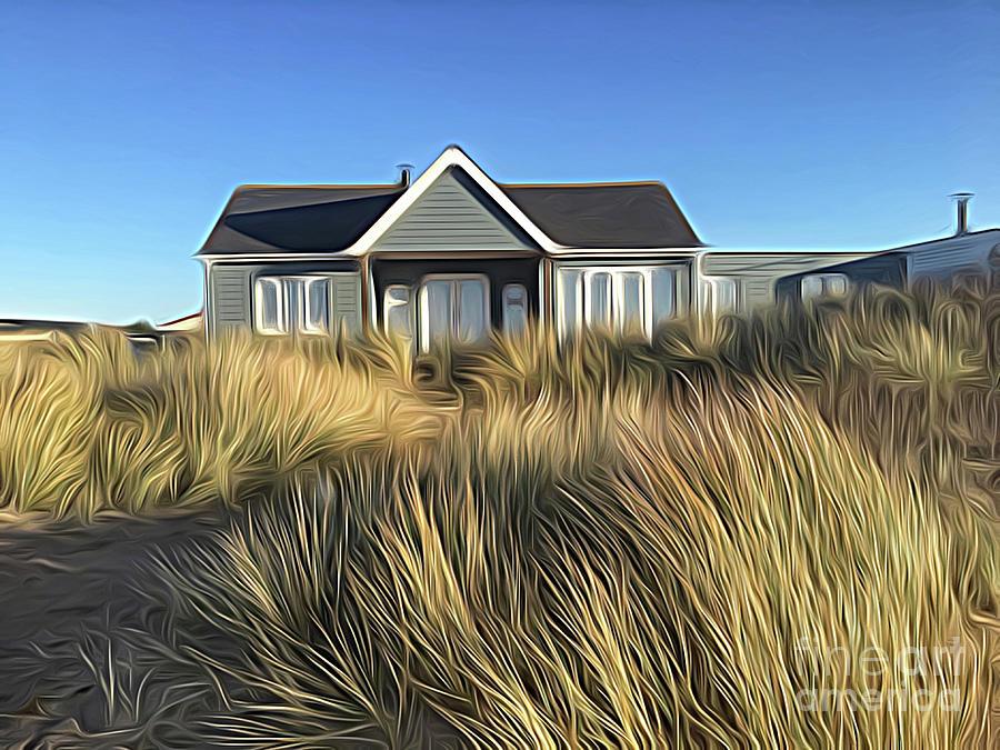 Snettisham Digital Art - The House In The Marram by John Edwards