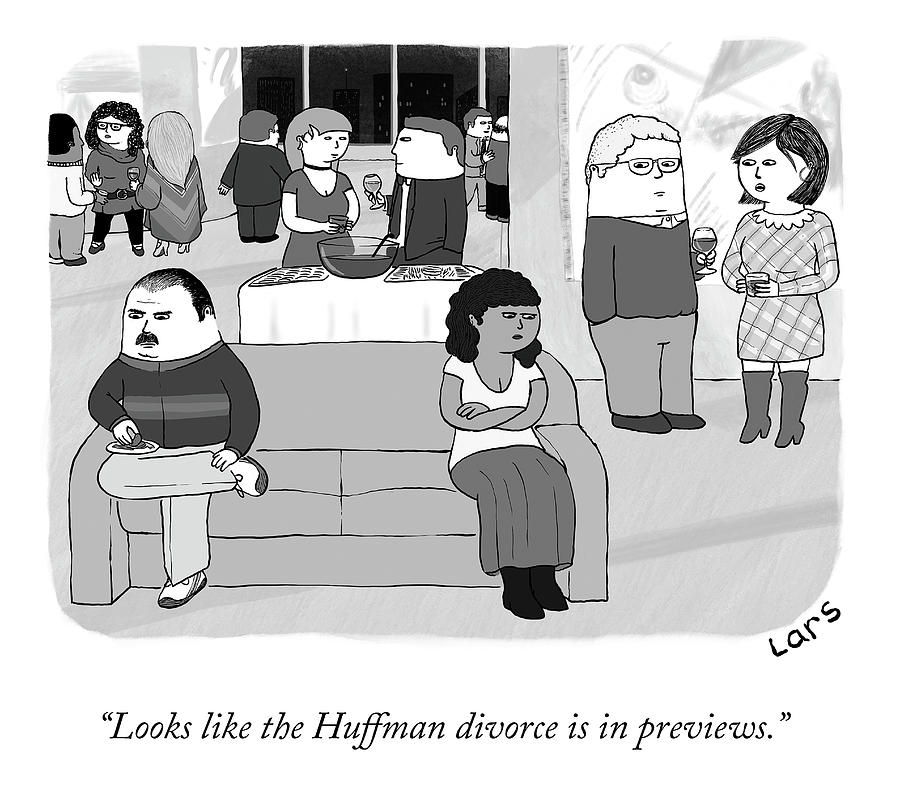 The Huffman Divorce Drawing by Lars Kenseth