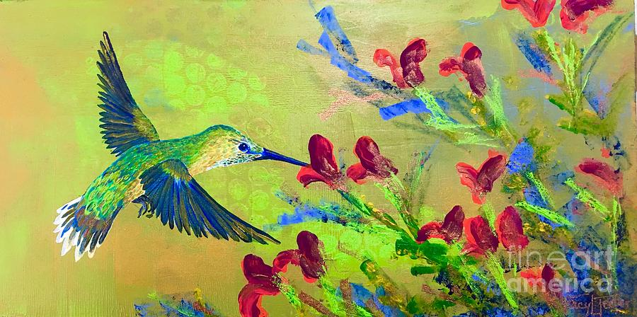 Hummer Painting - The Hummer by Tracy L Teeter