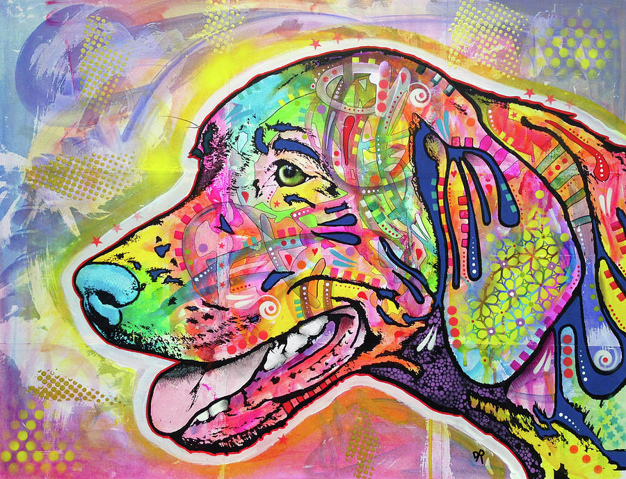 Dog Painting - The Hunt by Dean Russo Art