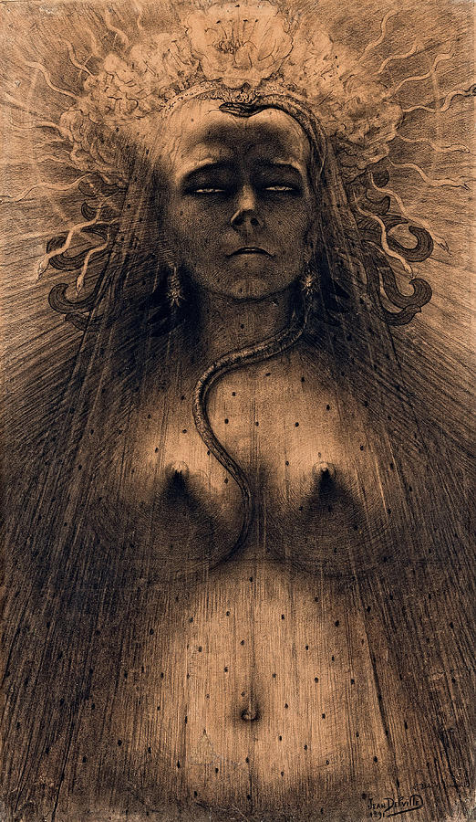 Idol Painting - The Idol Of Perversity, 1891 by Jean Delville