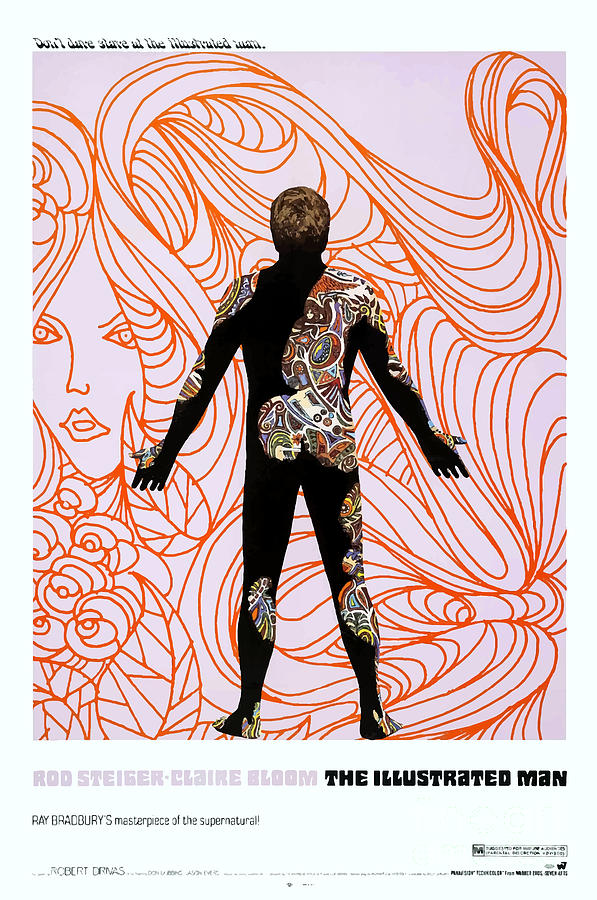 Rod Steiger Mixed Media - The Illustrated Man 1969 by Kultur Arts Studios