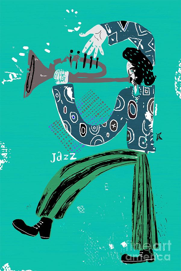 Play Digital Art - The Image Of A Jazz Musician Who Plays by Dmitriip