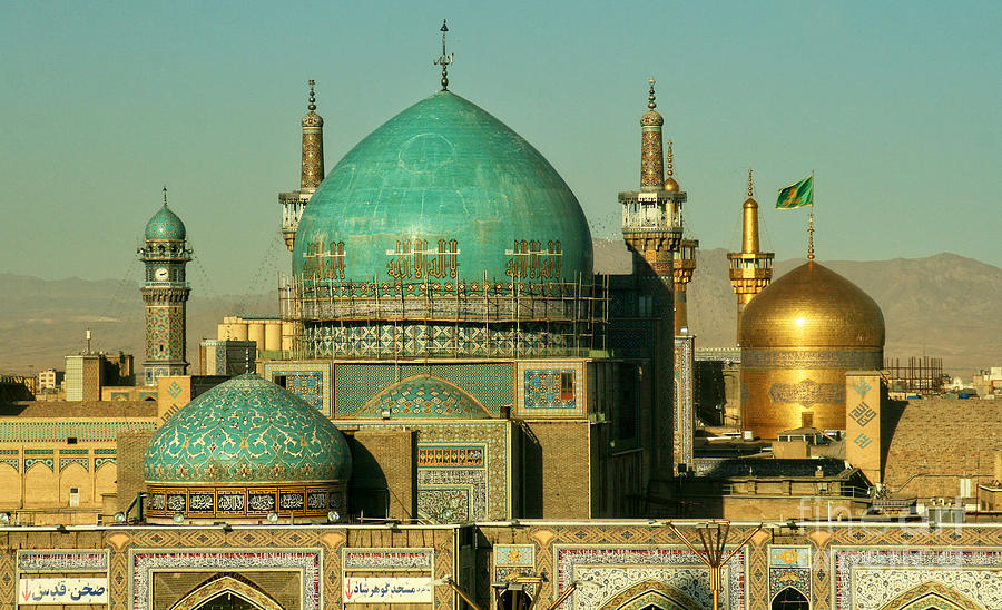 Religious Photograph - The Imam Reza Shrine In Masshad, Iran by Travel Stock