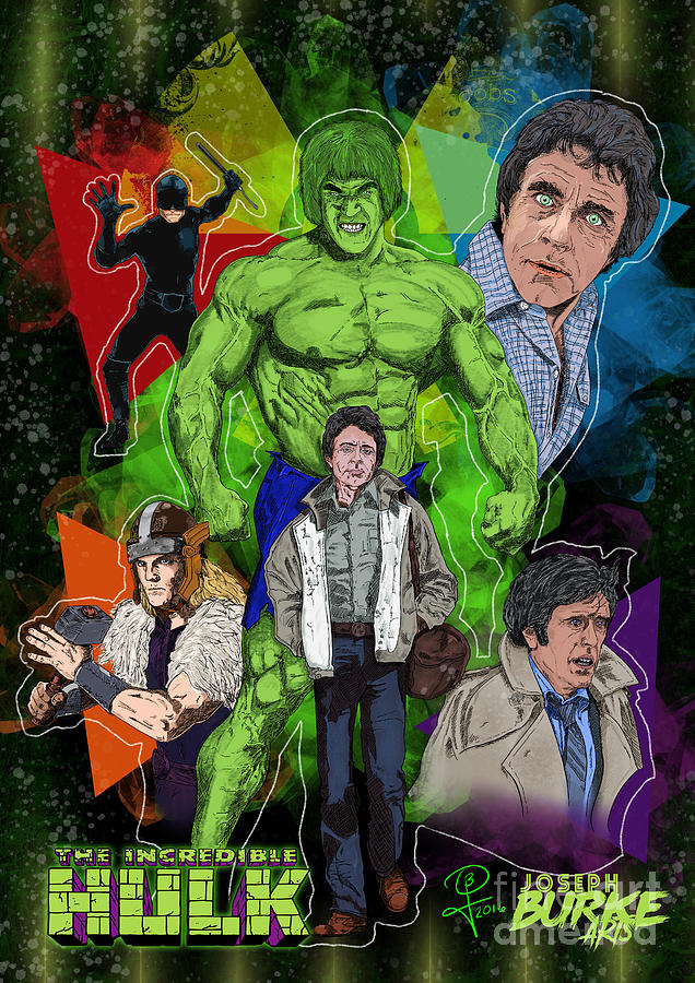 Lou Ferrigno Digital Art - The Incredible Hulk by Joseph Burke