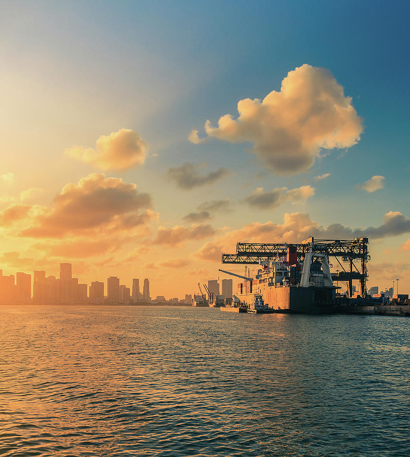The Industrial Port Of Miami Photograph by Thepalmer