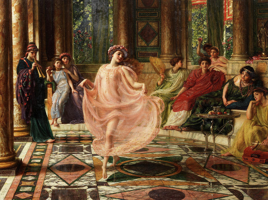 Sir Edward John Poynter Painting - The Ionian Dance by Edward Poynter