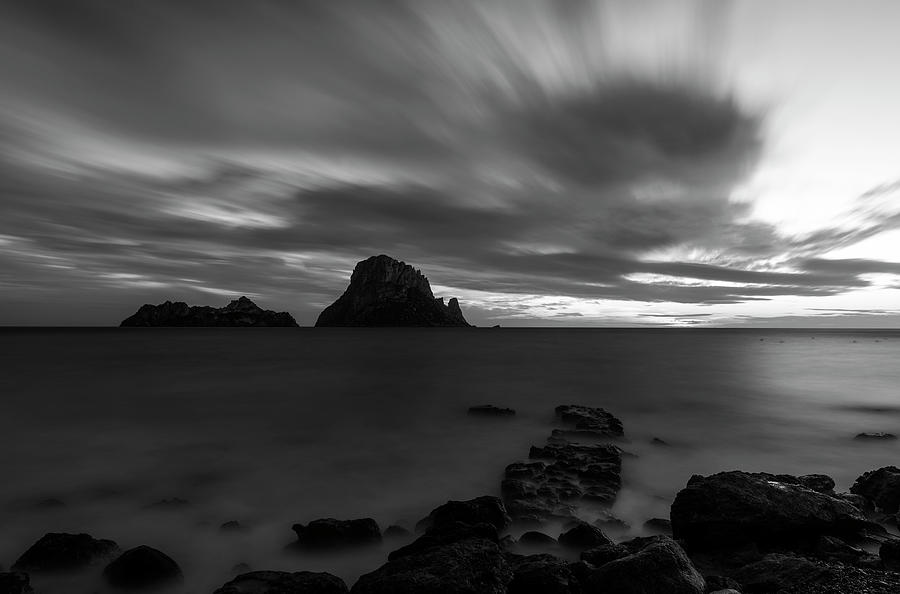 The island of Es Vedra at sunrise in Ibiza, Spain by Vicen Photography