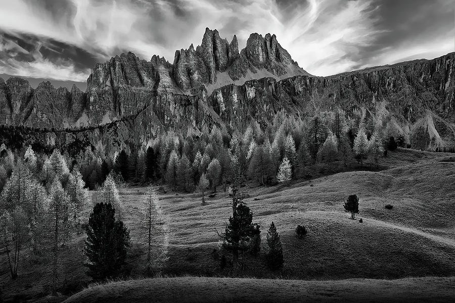 Black And White Photograph - The Italian Alps by Jon Glaser