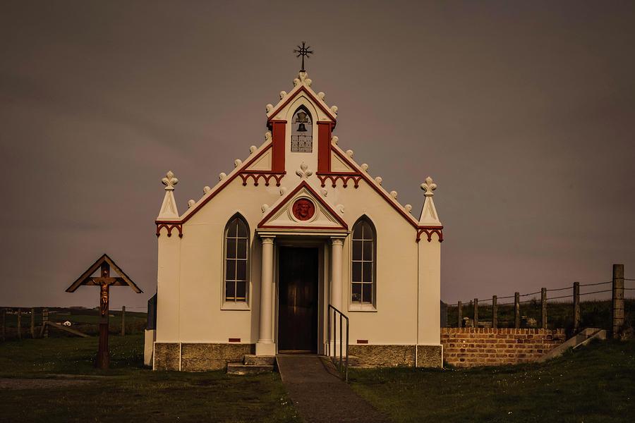 Chapel Photograph - The Italian Chapel by Alister Harper