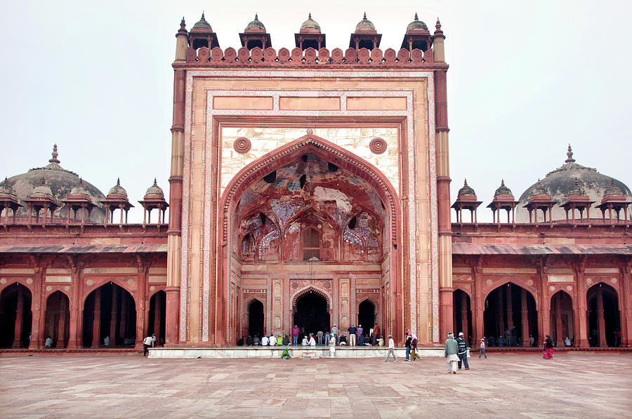 Arch Photograph - The Jama Masjid Mosque _3940 by Photograph By Howard Koons
