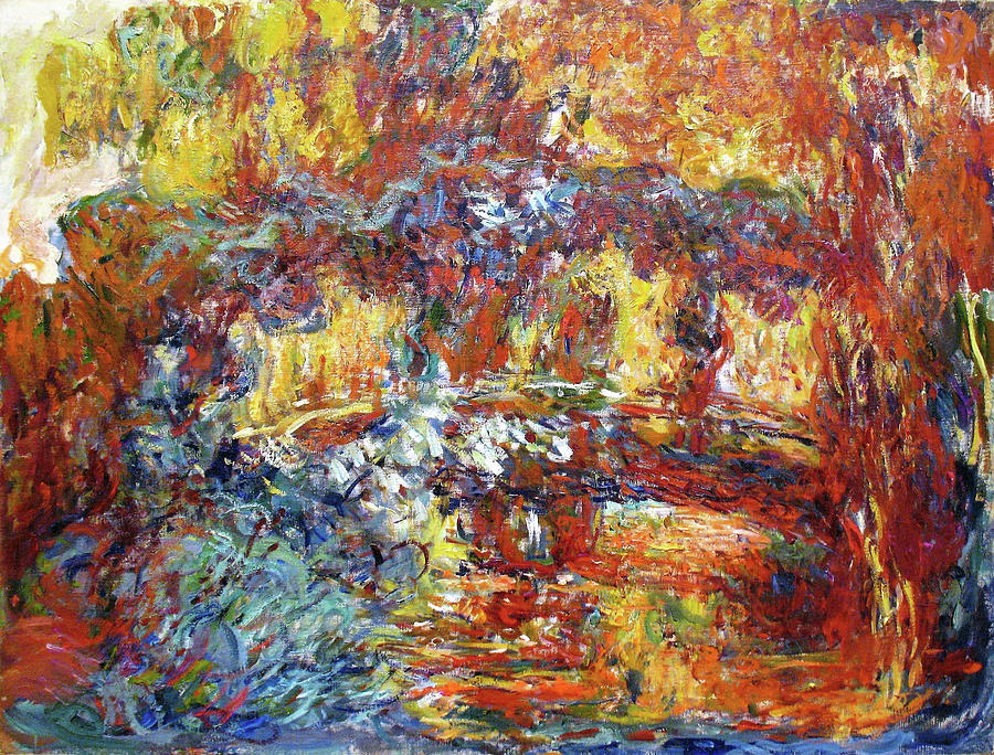Claude Monet Painting - The Japanese Bridge, 1922 - Digital Remastered Edition by Claude Monet