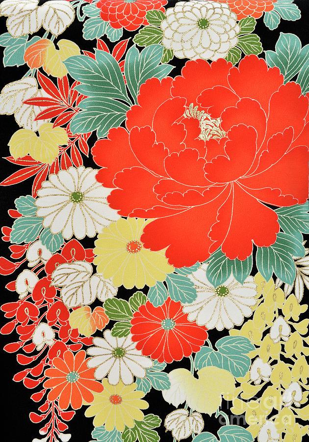 The Japanese Kimono, Close Photograph by Yagi Studio