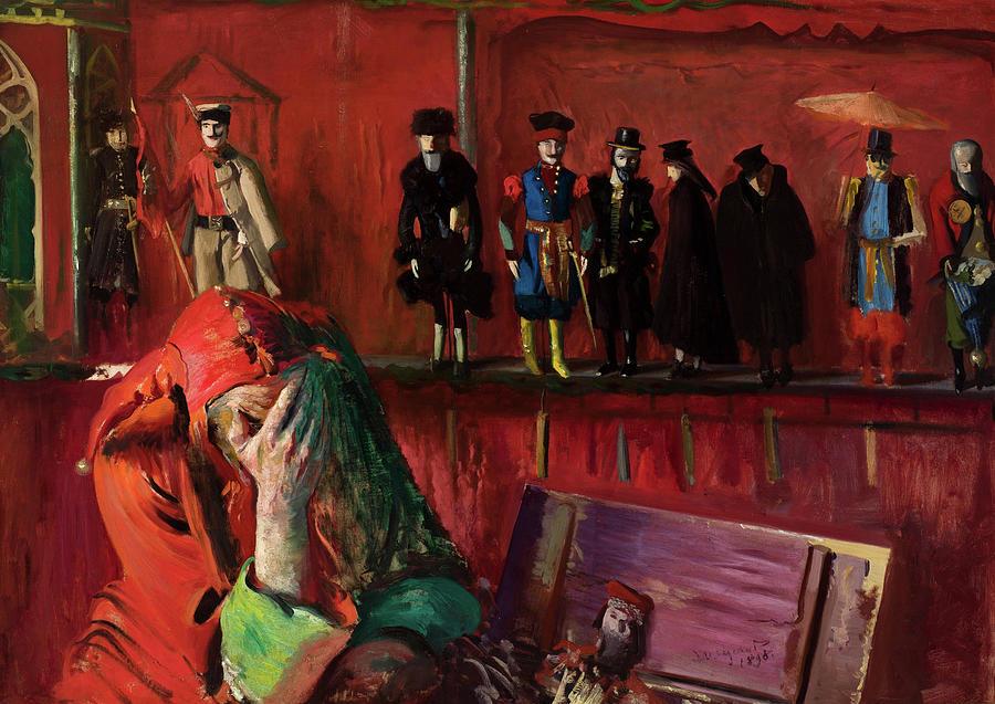 Leon Painting - The Jester, 1898 by Leon Wyczolkowski