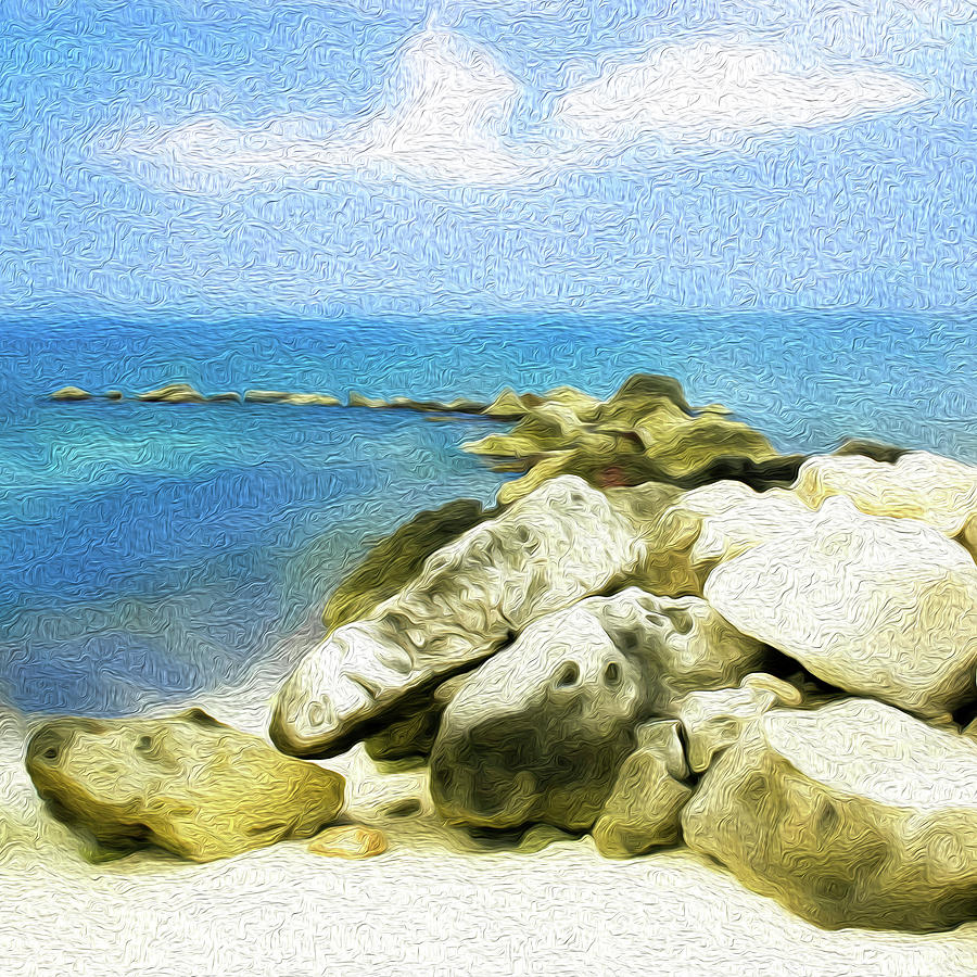 The Jetty at Seven Mile Beach, Grand Cayman - Square by Kenneth Montgomery