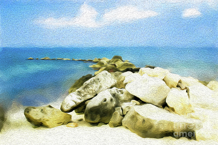 Grand Cayman Digital Art - The Jetty at Seven Mile Beach in Grand Cayman by Kenneth Montgomery