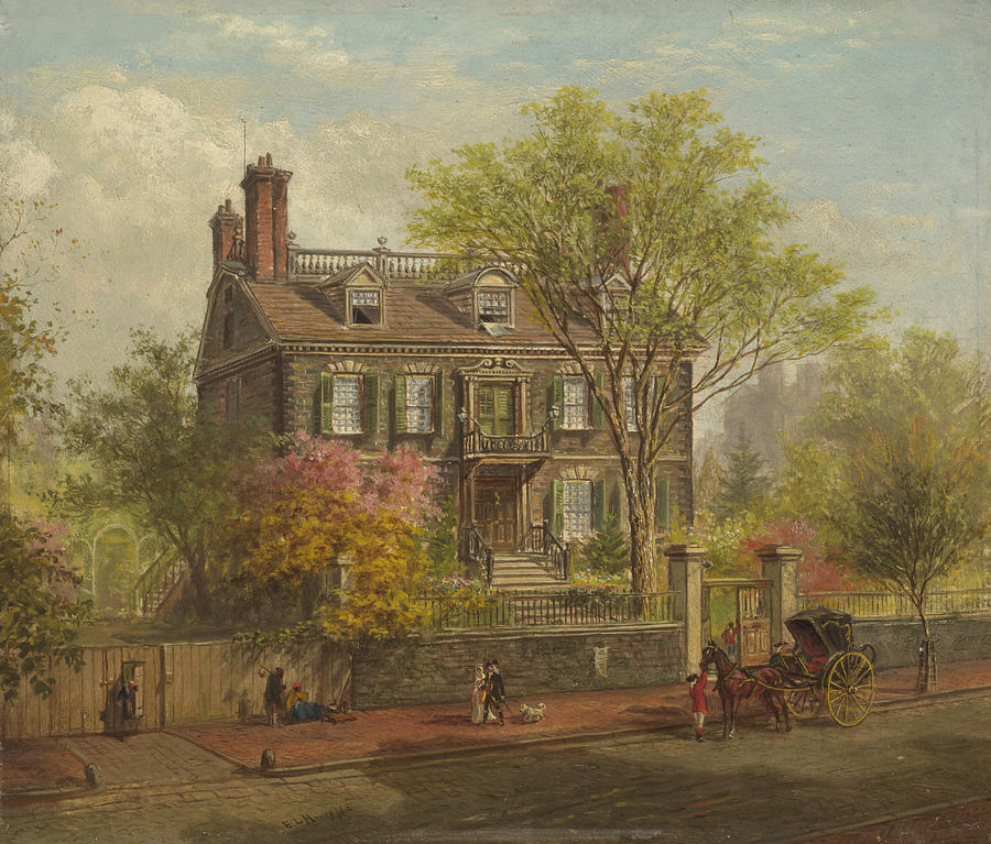 The John Hancock House by Edward Lamson Henry