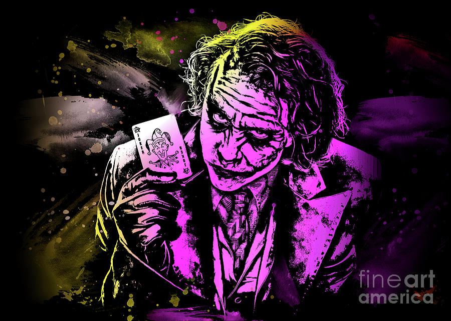 The Joker Art by Ian Mitchell
