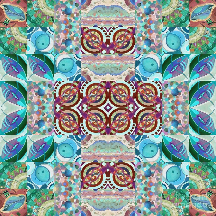 The Joy of Design Mandala Puzzle Series 7 Arrangement 6 Inverted by Helena Tiainen