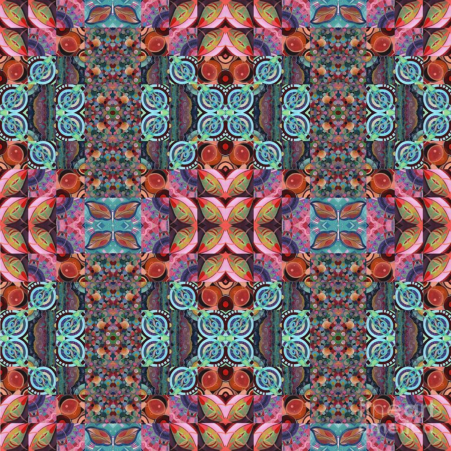 Art Project Painting - The Joy Of Design Mandala Series Puzzle 7 Arrangement 8 Compilation by Helena Tiainen