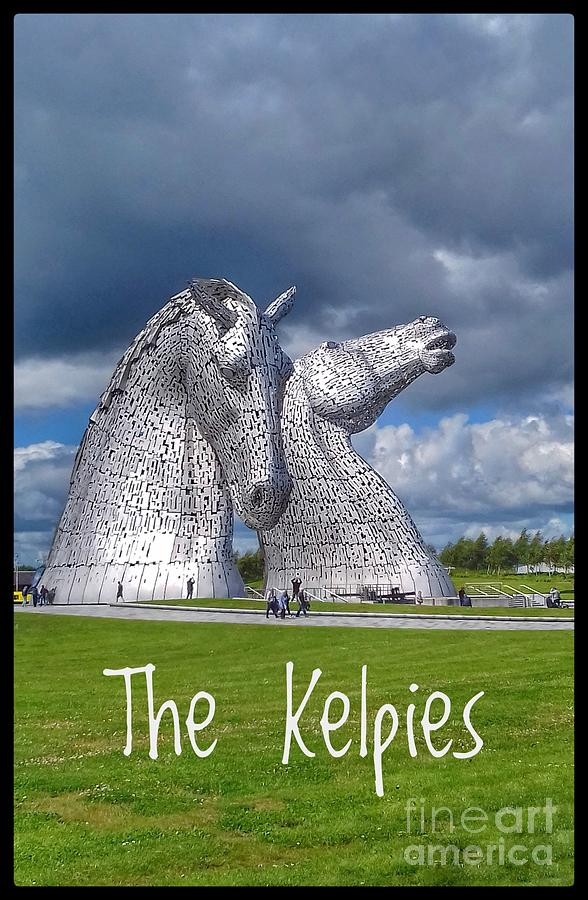 The Kelpies Poster by Joan-Violet Stretch