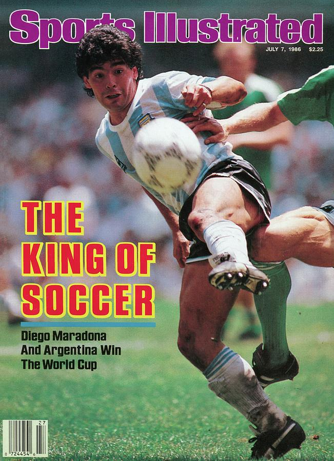 The King Of Soccer Diego Maradona And Argentina Win The Sports Illustrated Cover Photograph by Sports Illustrated