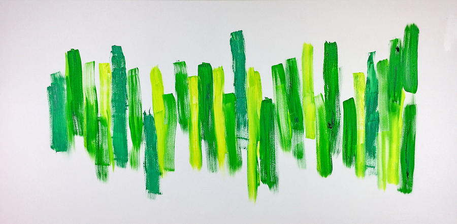 Green Painting - The Kingdom of Green by Tom Atkins