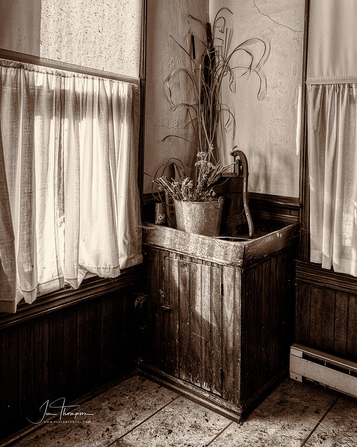 J B Thompson Photograph - The Kitchen Water Pump by Jim Thompson