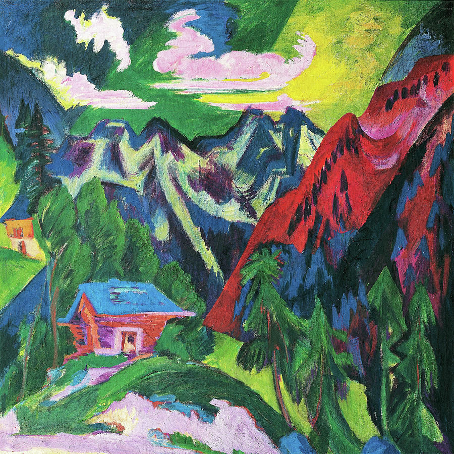 Ernst Ludwig Kirchner Painting - The Klosterser Mountains - Digital Remastered Edition by Ernst Ludwig Kirchner