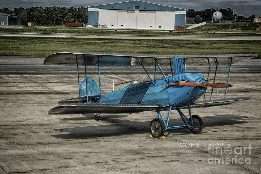 Airplanes Photograph - The Kr - 31 by Steven Digman