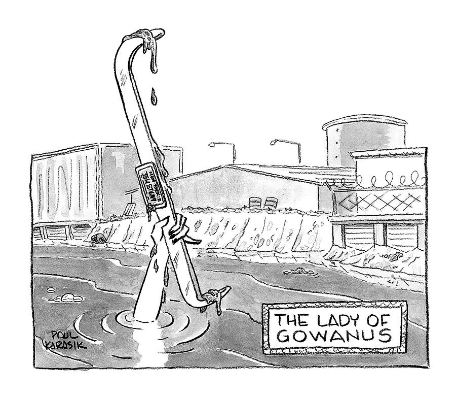 The Lady of Gowanus Drawing by Paul Karasik