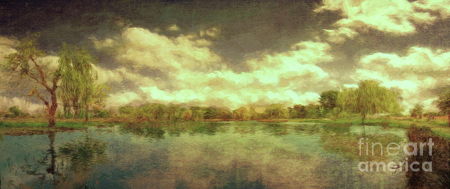 The Lake - Panorama by Leigh Kemp