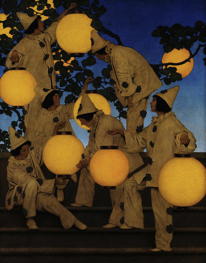 Maxfield Parrish Painting - The Lantern Bearers, 1908 by Maxfield Parrish