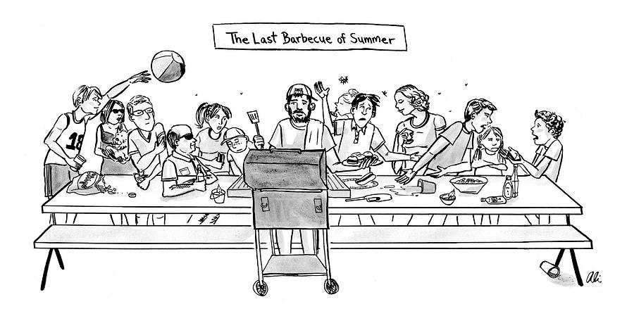 The Last Barbecue Of Summer Drawing by Ali Solomon