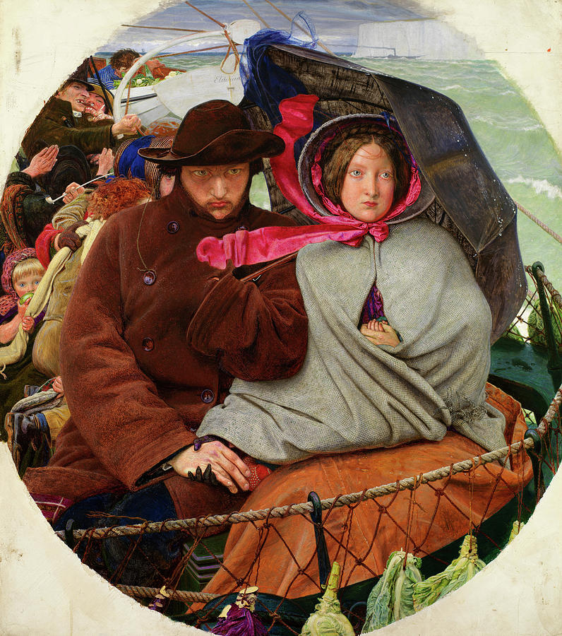 Ford Madox Brown Painting - The Last Of England, 1855 by Ford Madox Brown