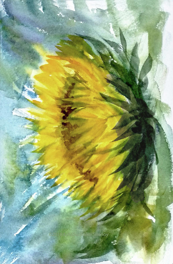 The last sunflower by Asha Sudhaker Shenoy