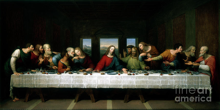The Last Supper, 1803. Artist Michael Drawing by Print Collector