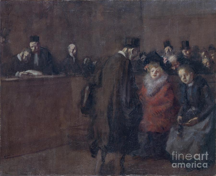 The Law Court Scene De Tribunal, 1910 Drawing by Heritage Images