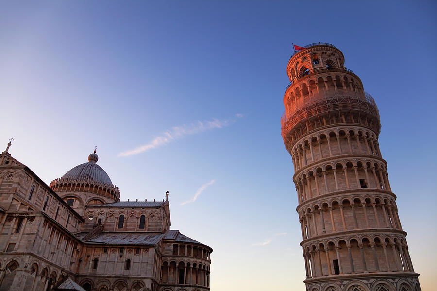 The Leaning Tower Of Pisa And Duomo At Photograph by Martin Child