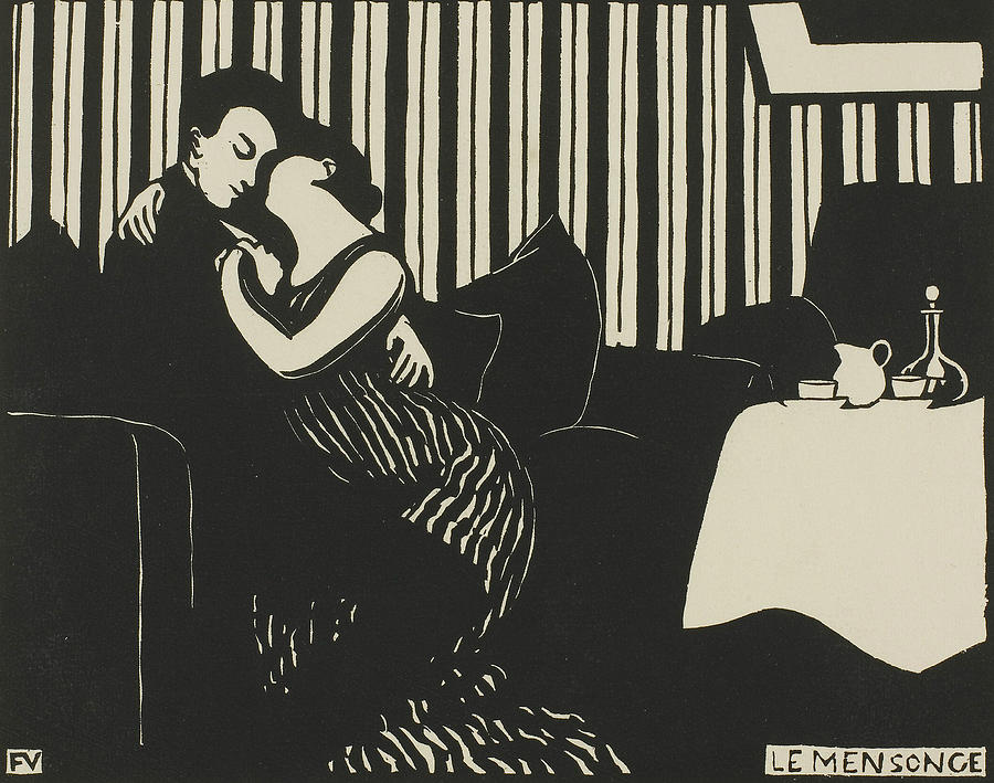 The Lie, plate one from Intimacies by Felix Edouard Vallotton